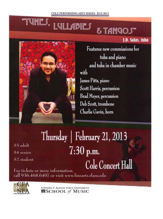 Tangos Recital Flyer Spring 2013